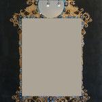 Baroque noir miroir  100x80