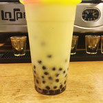 Banana Bubble Tea w/ Extra Tapioca