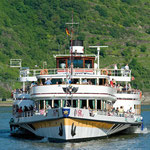 Das legendäre Schaufelradschiff - die RMS GOETHE (© KD Deutsche Rheinschiffahrt AG )