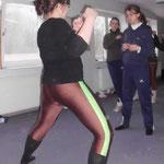 nach dem Pferdetraining: Karate-Kurs, geleitet von Annemarie aus Lohne