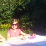 Tete mit Sarahs cooler Sonnenbrille! :)