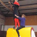 Samstag: Kür-Training am Holzpferd
