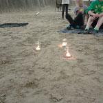die Kerzen der Abendrunde
