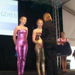Siegerehrung der Doppel: 3. Platz an Nadin und Kirsten aus Rastede