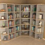 Bibliothèque d'angle modulaire Shangria01