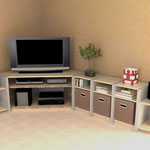 Meuble TV d'angle modulaire Shangria01