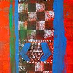 Wissen und Nichtwissen, 2012, Acryl und Lack auf Leinwand, 1 x 0,5m