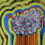 plante étrange, 2012, Mischtechnik auf Leinwand, 0,6 x 0,8m