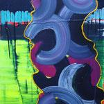 Holometabol, 2012, Acryl und Lack auf Leinwand, 0,8 x 0,6m