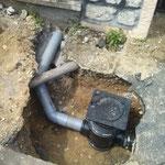 CAZORLA TP :  pose de canalisation et regard en tranchée  pour travaux d'assainissement et viabilisation