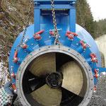 Einbau Turbine