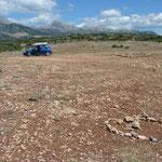 wo das Pueblo der Mecaleros Apatschen stand am Platau