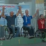 Siegerehrung mit Tobias Knecht als dritter und Jürgen Döringer als sechster in der MH3