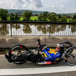 Der Neckar war ein würdiger Hintergrund für die Rekordfahrt