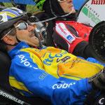 Konzentration vor dem Start: Andreas Kiemes