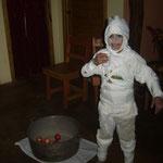 Halloween-Party bei Putnam (die einzige US-Amerikanerin im Dorf)