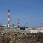 Fabrik einige Kilometer außerhalb von Dserschinsk.