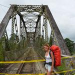 Diese Grenzbrücke zu Costa Rica war anno 2010 noch in Betrieb!