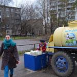 Lera (Eismeer) und das Milch-Mobil.