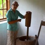 Maria Egg, eine waschechte Tirolerin! Als Kinder sprachen sie und ihre Geschwister kein Spanisch, in Österreich war sie zum ersten Mal im Jahr 2008.