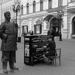 Klavier spielen im Zentrum der Stadt. Anlässlich des den góroda (Tages der Stadt) waren in der Fußgängerzone zahlreiche Klaviere aufgestellt.