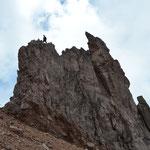 Kletterei auf 5.250 m.