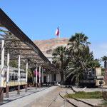 Der alte Bahnhof von Arica.