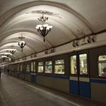 "Metro-Station ""Arbatskaja"" in Moskau."
