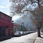 Straße in Santiago.