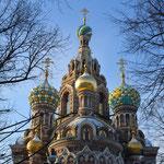 Die Auferstehungskirche (Spas na Krawí) in St. Petersburg.