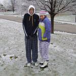 Snow day mit John und Rachel