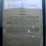 Ausgabe der Wiener Zeitung vom 28. Juli 1914