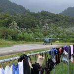 Da wären wir gern mitgeflogen... Gestrandet in Puerto Obaldía, Panama.