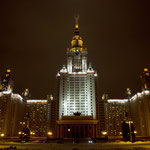 Die Moskauer Lomonossov-Universität.
