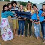 Von links: Katja, Katja, Giovanni, Lera, Lera, Ira, Markus.
