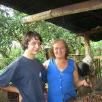 Kakaobohnen rösten bei Edith