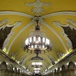 Die Station Komsomolskaja ist eine der prächtigsten an der Ringlinie.