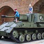 Im Kreml von Nischni befindet sich ein alternativer Kinderspielplatz.