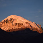 Der Sajama (höchster Berg Boliviens) im Abendrot.