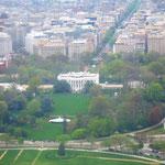 Das Weiße Haus, vom Monument fotografiert