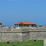 Die Stadtmauer von Cartagena.