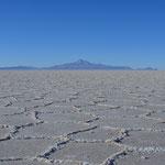 Im Salar de Uyuni, der größten Salzpfanne der Welt.