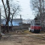 Straßenbahnschleife in Dserschinsk.