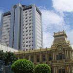 Die alte Post und die Nationalbank in San José