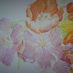 Tulpenbild in Arbeit
