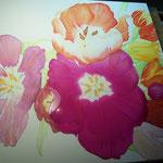 Tulpenbild mit Lasuren