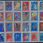 Vredesgroeitapijt: door een begunstiger van War Child aangekocht segment gesigneerd Mirthe Sleper, maker bij Kunst & Bedrijf Oss.