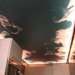 toile imprimée avec rétro-éclairage plafond