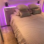 Tête de lit éclairée