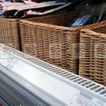 Прямоугольные плетеные корзины для торговых сетей, любых размеров